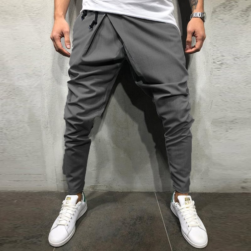 Slim Fit Elastic Men's Casual Pants Summer Thin Business Trousers Male Gray Black Blue Work Wear(China)