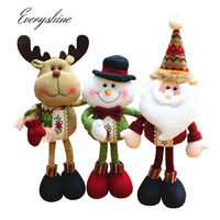 Christmas Santa Claus Snowman Elk Doll Christmas Decoration Xmas Tree Hanging Ornaments Pendant Children S Gift