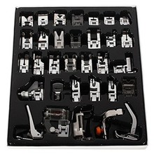 32pcs Domestic Sewing Machine Presser Foot Feet Kit Set For Brother Singer Janome Sewing Tools & Accessory