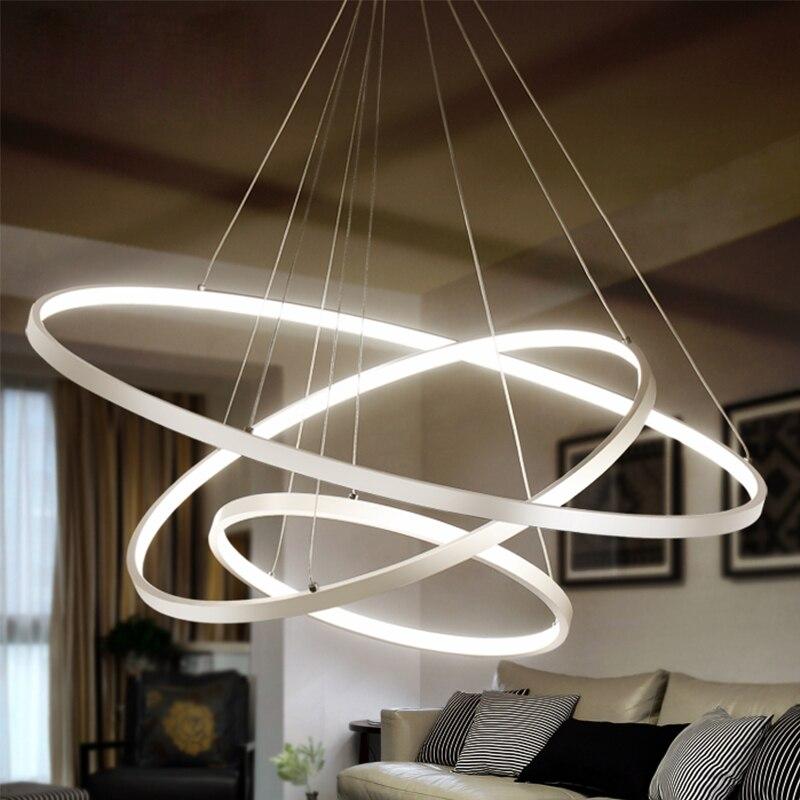 LED Modern Circle Pendant Light For Living Room Luminaires Lamp Lanterns Hanging Ceiling Lamps Lamparas Colgantes Lustre