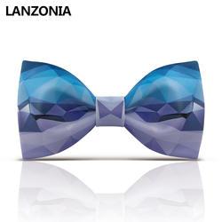 Lanzonia Стильная Новинка Узорчатый Галстук-бабочка для мужчин лоскутный принт крутой галстук-бабочка женская мода Уникальный дизайнерский