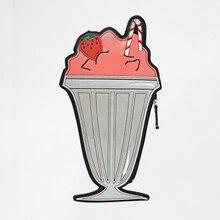 harajuku ulzzang fashion funny clutch lovely shaped strawberry baba bag