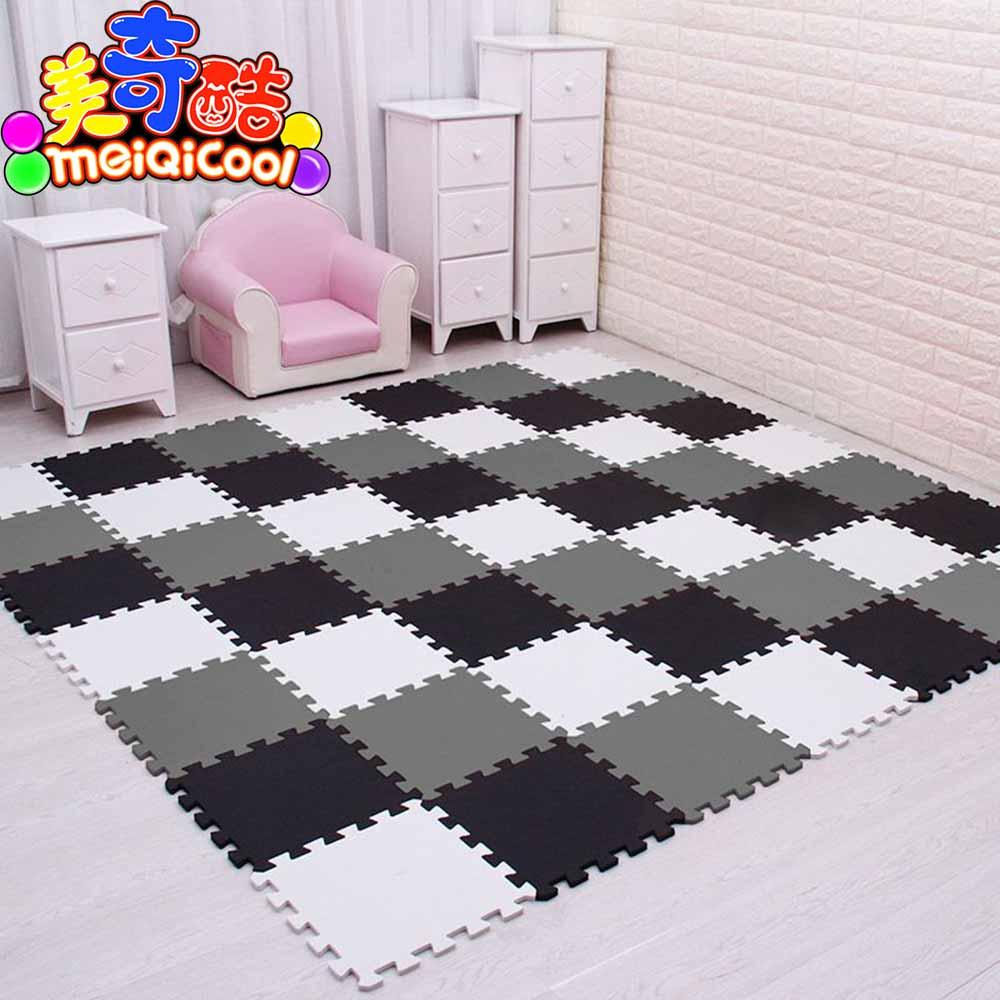 Mei qi tapete de quebra-cabeça de eva, tapete para crianças com espuma refrigerante, exercício de intertravamento tapete de jogo cada 29x29cm18 24/ 30 peças