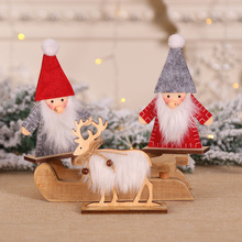 Creative Santa Claus Desktop Decoration Ornaments Wood Christmas Elk 2020 Decorate Your Home christmas party favors