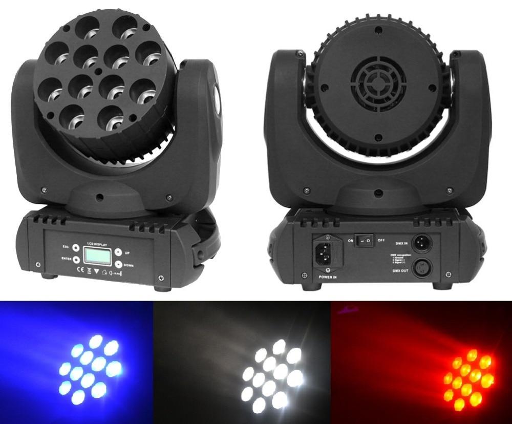 2xLot Free Ship LED Stage Light 12x10W 4v1 RGBW Mini Led Moving Head Spot Wash Lights 150W DJ Disco Ball Laser Projector Lamp