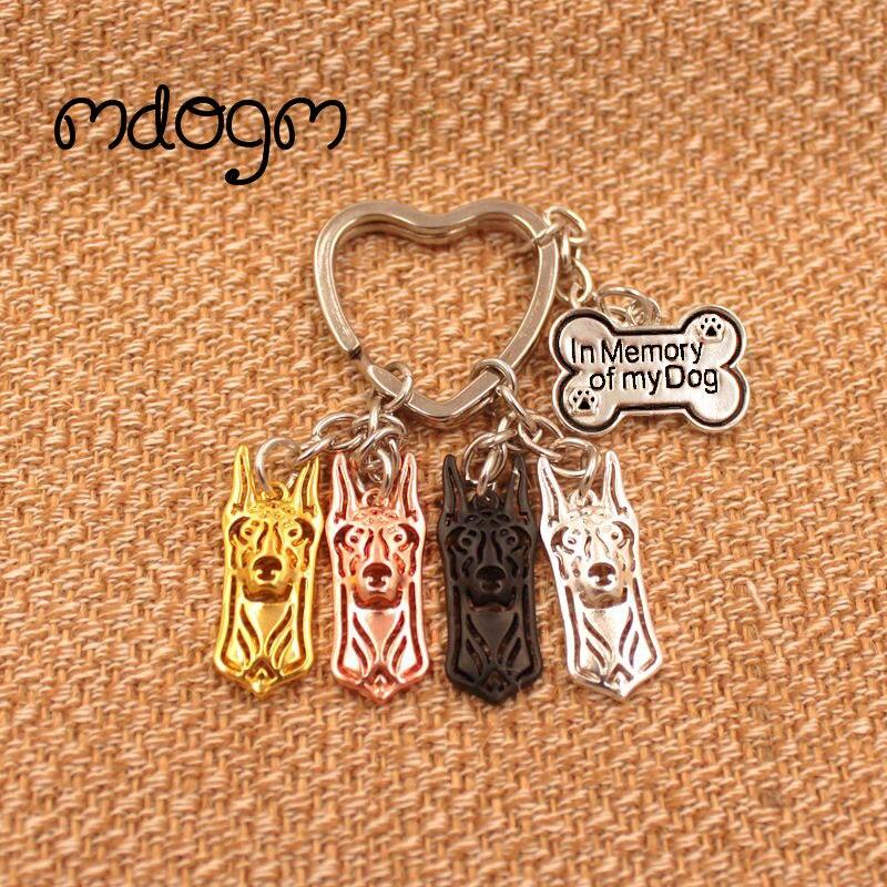 2019 Cute Doberman Dog Animal  Purse Handbag Charm Handmade Pendant Keychain For Bag Car Women Men Key Ring Love Jewelry K024