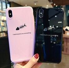Wangsenna Phone Case For iPhone 6 6s 7 8 Plus X XR XS Max Fashion Cartoon Crown Feather Letter KING QUEEN Soft TPU