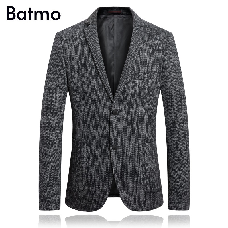 Batmo 2019 new arrival high quality wool casual gray blazer men men s casual jackets men