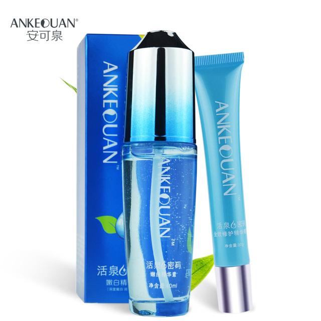 AnKeQuan cuidados com a pele colágeno ácido Hialurônico essência 40 ml e anti-envelhecimento 30g creme para os olhos cuidados com a pele definido profundamente hidratante