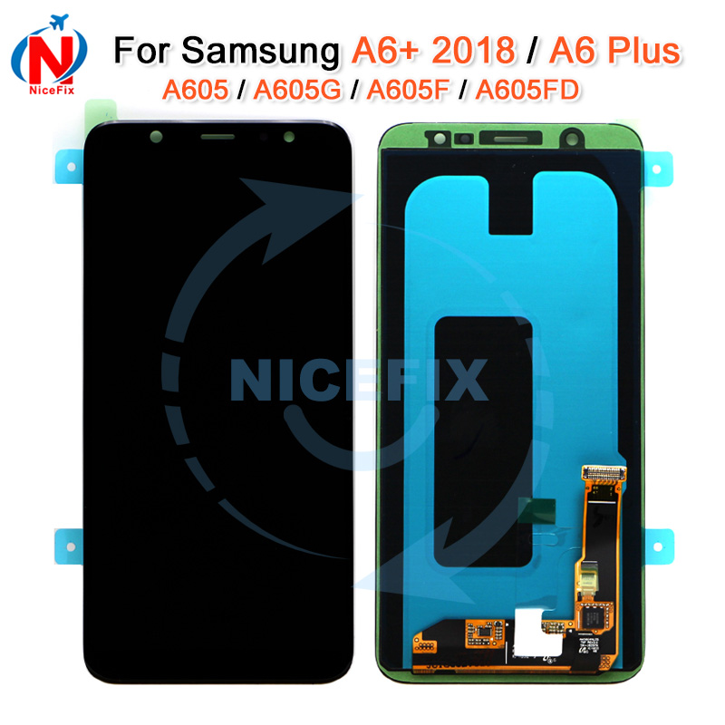 For SAMSUNG Galaxy A6 Plus 2018 A605 A605F A605G A605FD LCD Display Touch Screen Digitizer Assembly