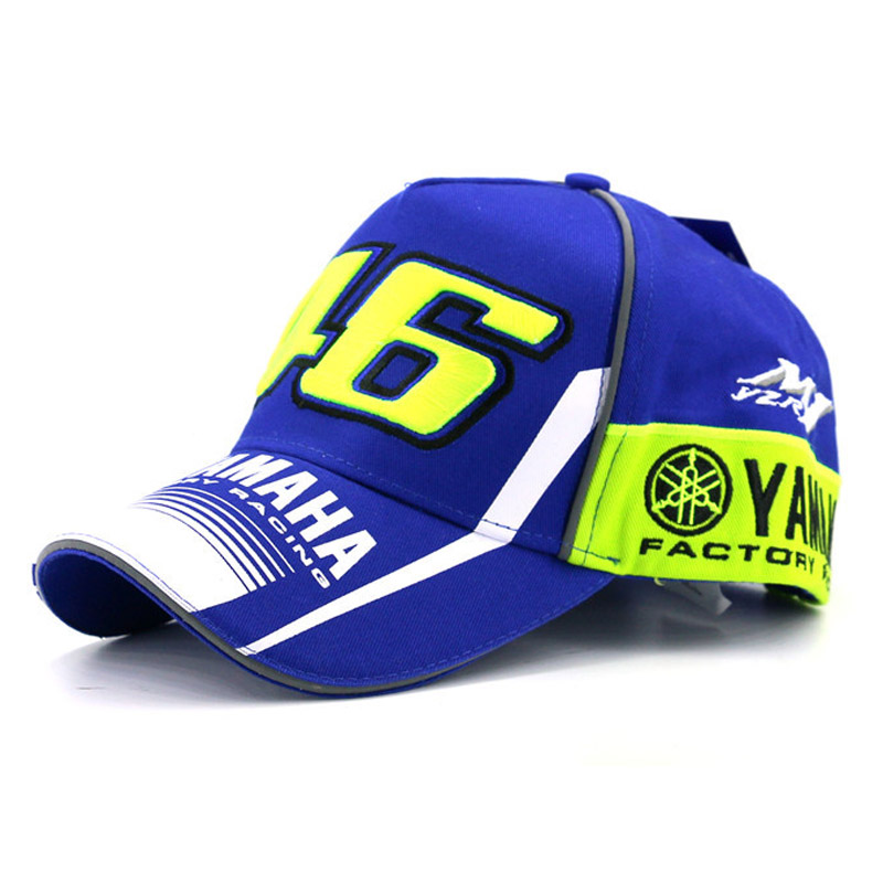 <font><b>2017</b></font> High Quality <font><b>MOTO</b></font> <font><b>GP</b></font> 46 Motorcycle 3D Embroidered F1 Racing Cap Men Women Snapback Caps <font><b>Rossi</b></font> VR46 Baseball Cap YAMAHA Hats