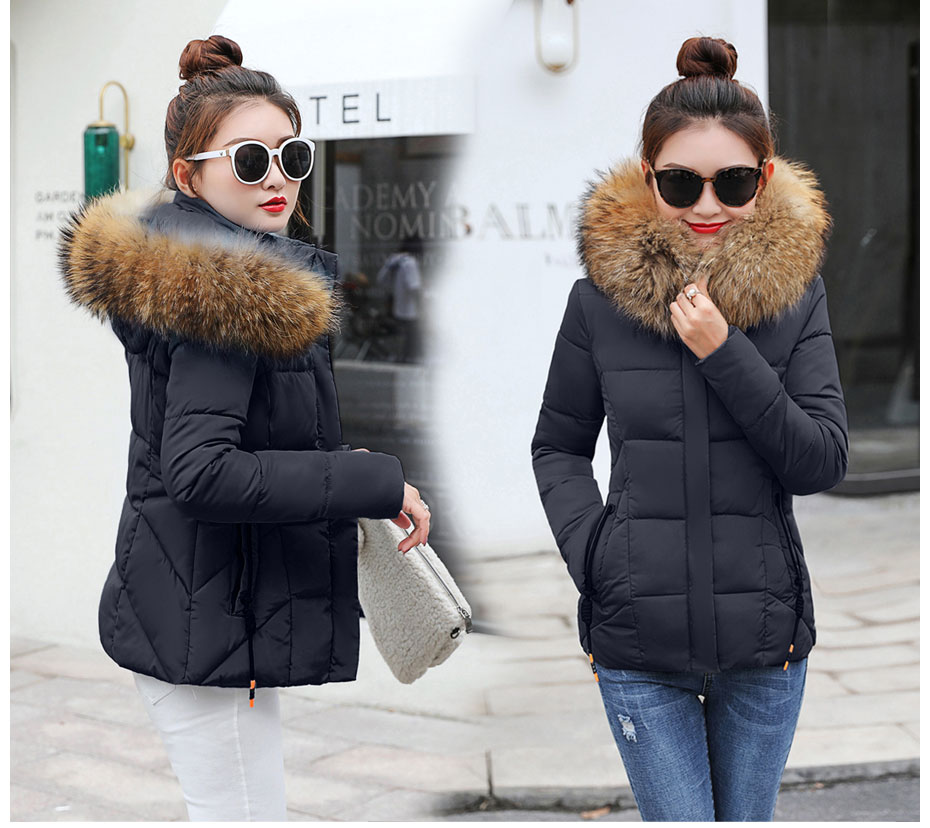 2019 Winter Jacket women Plus Size Womens Parkas Thicken Outerwear solid hooded Coats Short Female Slim Cotton padded basic tops