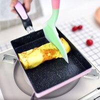 Блин Яйцо горшок алюминиевого сплава с антипригарным покрытием Сковорода Посуда глубоких газовых индукционная плита-гриль J2Y