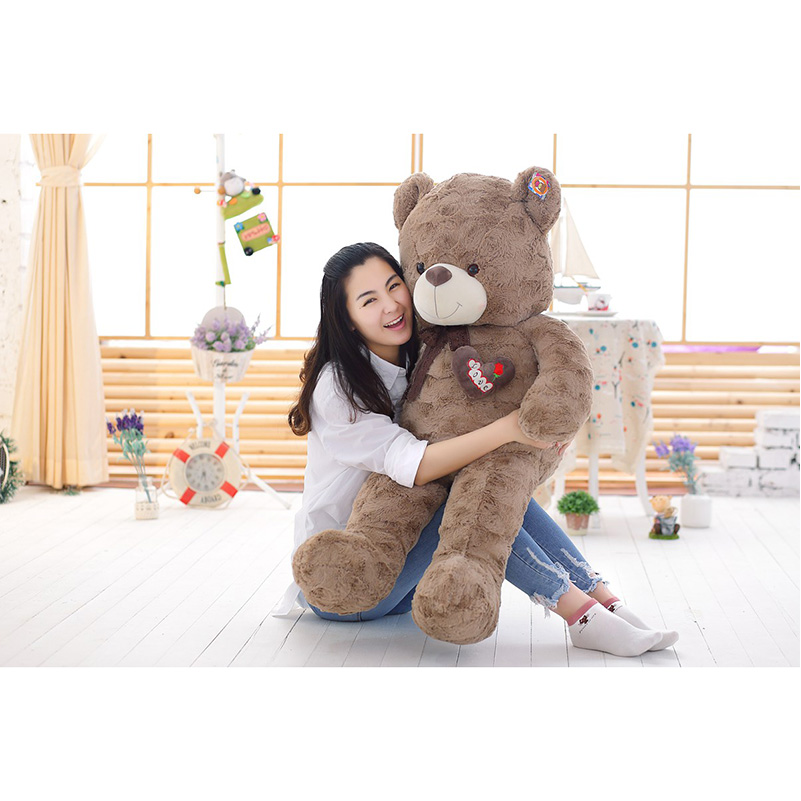 ФОТО 2017New 140cm Large Size Beautiful Curly Bears Teddy Bear Soft Plush Stuffed Toys Teddy Bears Dolls For Valentine's Day Gift