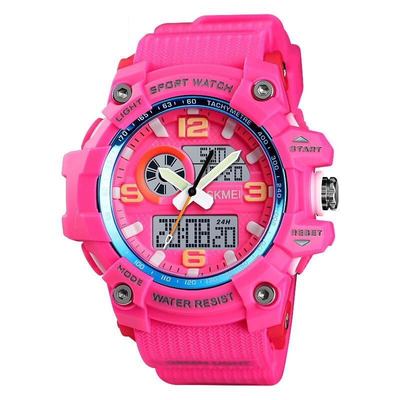 SKMEI Digital Women's Men Watches Fashion PU Sports Watches LED Ladies Watch Female Electronic Clock Reloj Mujer  1436