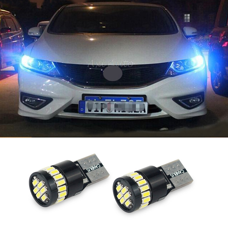 Canbus T10 LED W5W 194 168 Car Clearance Parking Light for For Ford Focus 2 3 4 Fiesta mk2 mk3 Mondeo Kuga Ecosport Edge Fusion deechooll 2pcs wedge light for mazda 2 3 5 6 mx5 rx8 cx7 626 gf gg ge gw canbus t10 57smd 6w led clearance xenon lighting bulbs