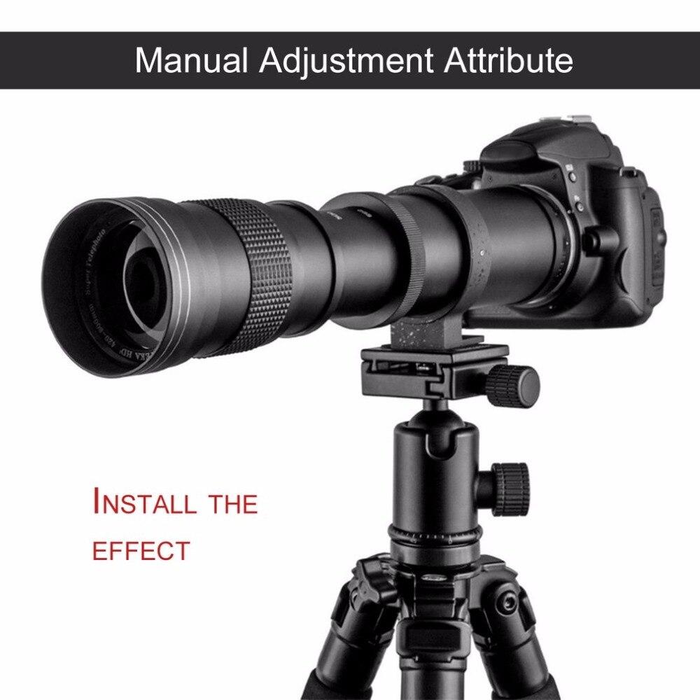 420-800mm f/8.3-16 Telephoto Lens for Nikon DSLR T Mount Camera D7200 D5300 D5200 D3300 D3200 D3000 D7100 D7000 цифровая фотокамера 5 hd d3000 16 0mp 3 0 tft slr hd d3000 camera