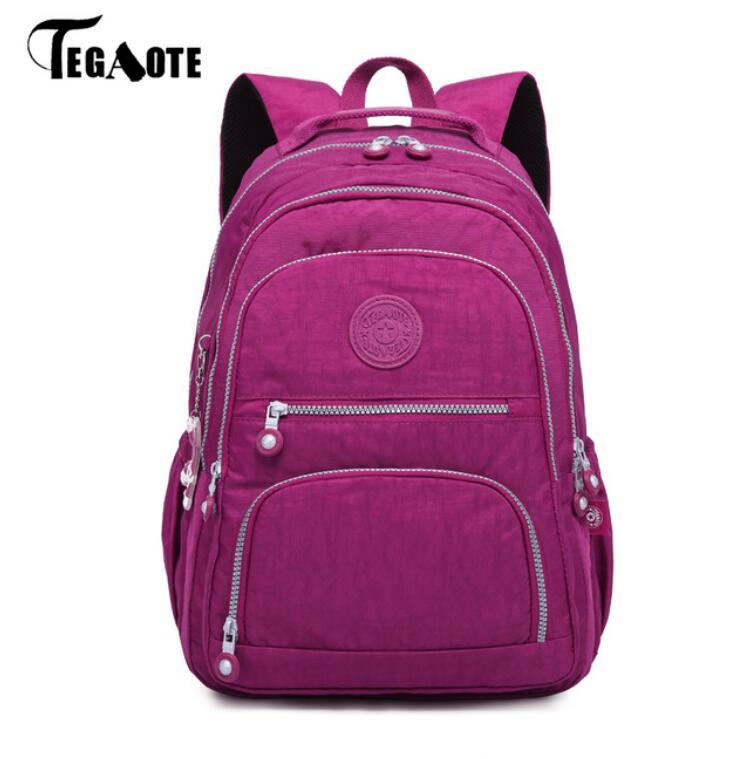 Tegaote feminino mochila de escola para adolescentes meninas mochila feminina bagpacks portátil sacos de viagem sac a dos