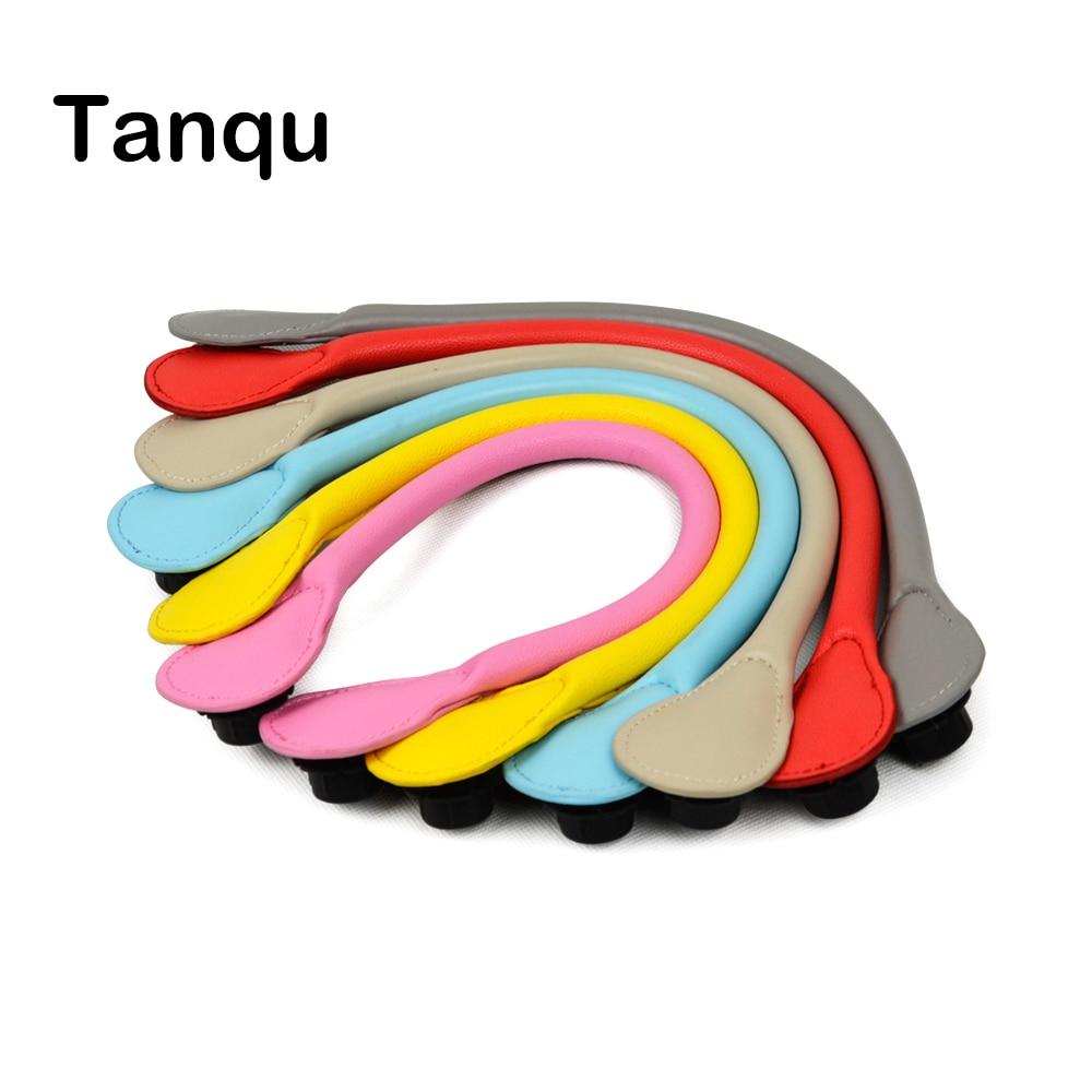 TANQU New Long Pu Faux Leather Handle for Obag Colourful handle for Classic O Bag Women's Bags EVA handbag