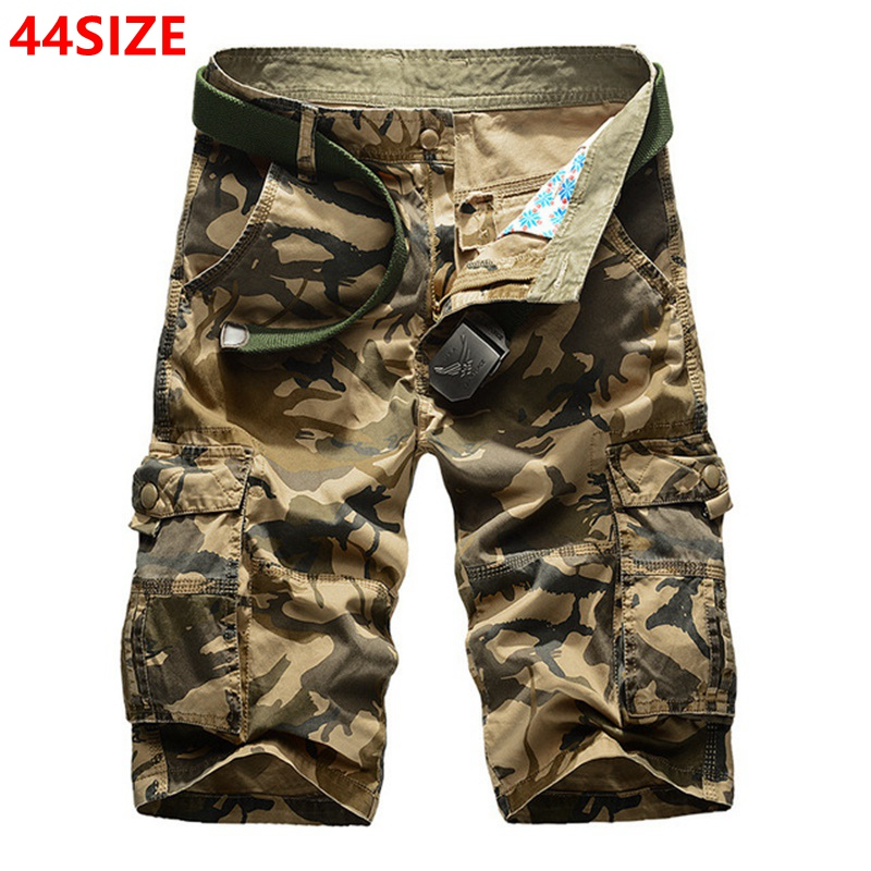 Large Size Cotton Camouflage Tooling Shorts Men's Summer Multi-pocket Loose Shorts 44 42 40