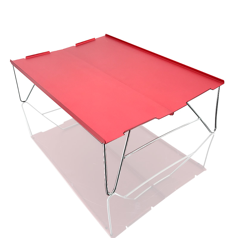 Coffee Portable Mini Ultra-light Aluminum Folding Camping Table Fits Picnic Outdoor Barbecue 1-People Use