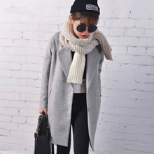 Loose Winter Coat Women casaco feminino Wool Female & Blends Trench Blazers Gray Black Red