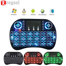 Portable Mini i8 i8+ Backlit Wireless Keyboard 2.4G Touchpad Mouse Multimedia Handheld Air Fly Mouse Remote Controller