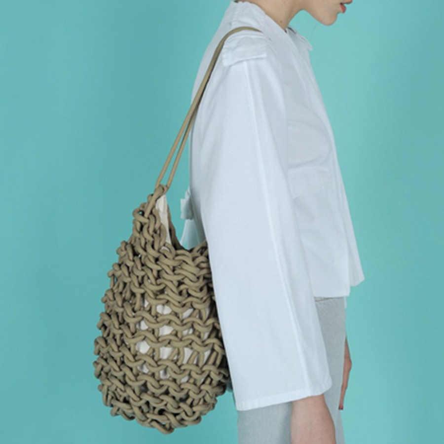 Модные Плетеные женские сумки через плечо, повседневные плетеные сумки из ротанга, женские сумки большой емкости, летние пляжные сумки для путешествий 2019