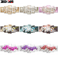 ZOOYA 5d Diy Diamond Embroidery Orchid Peony Lily Flower Diamond Painting Cross Stitch Full Square Rhinestone
