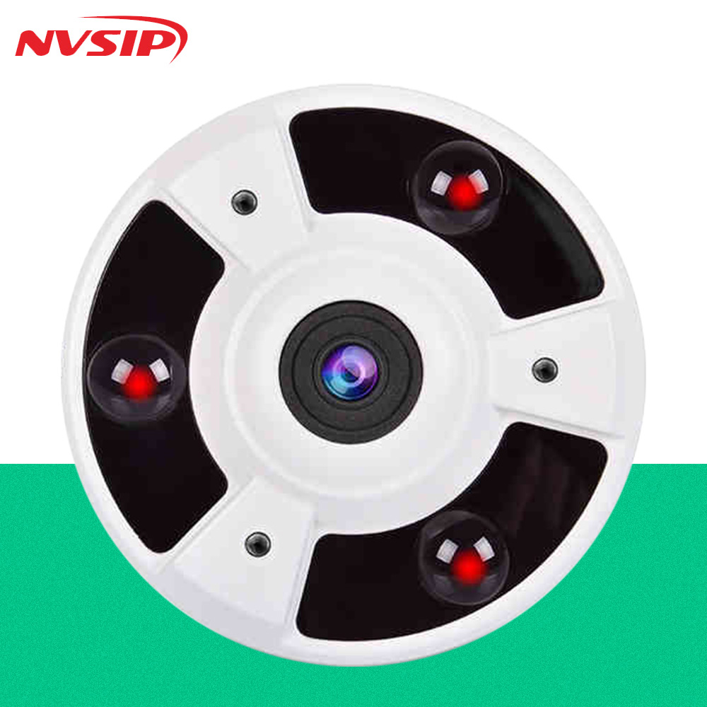h265 ip cameras 1080p 4mp Panoramic Camera Fisheye Lens 180 Degree IR 10m Surveillance ip Cameras