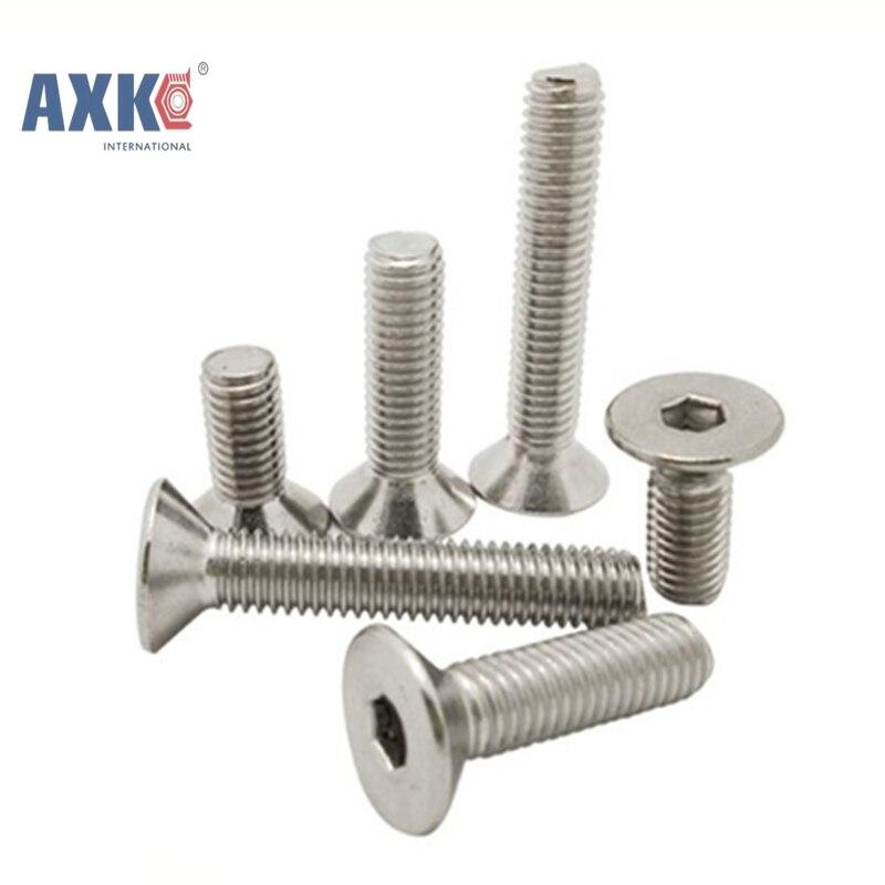 50Pcs DIN7991 GB70.3 ISO10642 JISB1194 M2 M2.5 M3 M4 304 Stainless Steel Hexagonal Countersunk Screws Flat Head Screw AXK017 fit 10642