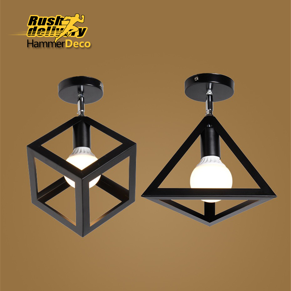 Industrial Lighting Components: Aliexpress.com : Buy The Square Ceiling Lamp, Retro Retro