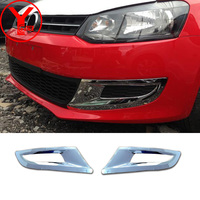 2009 2016 Front Fog Light Cover For Volkswagen Polo Mk5 5door Hatchback 2011 2013 2014 ABS