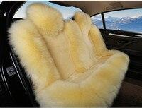 Новый Автокресло Обложка зима теплая шерсть подушки сиденья универсальный спереди и сзади стул сиденья для Volkswagen Beetle CC Eos гольф