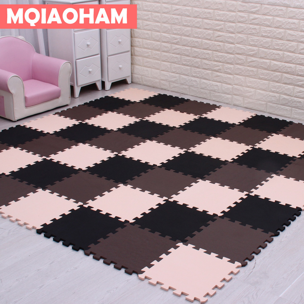 MQIAOHAM baby EVA Foam Play Puzzle Mat for kids/ Interlocking Exercise Tiles Floor Carpe ...
