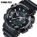 Top Brand YISUYA Black High Quality Dive Swim Digital Watches with Silicone Band Diving Swimming Wristwatch for Men