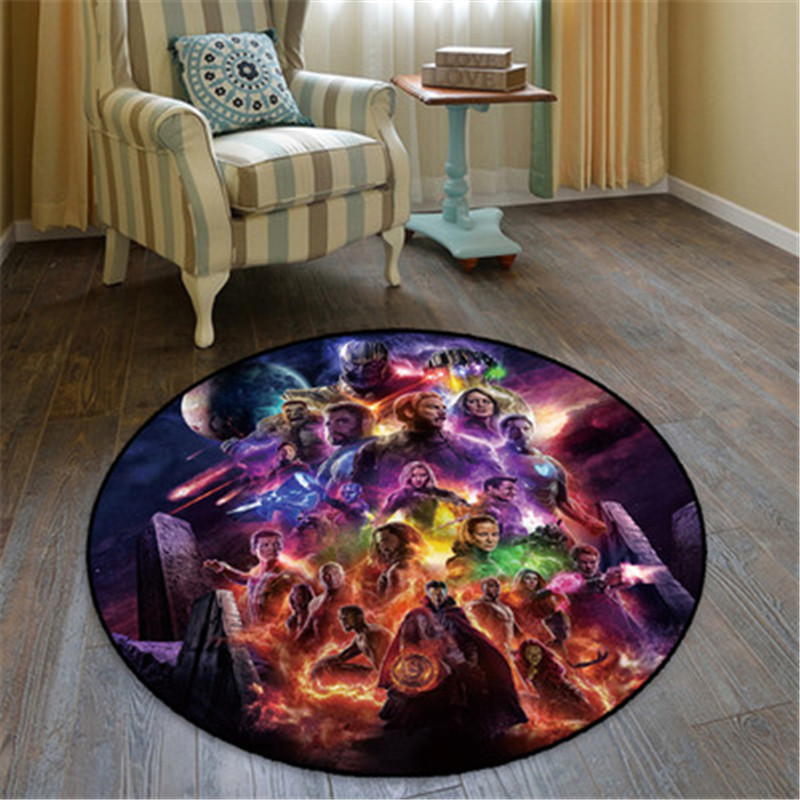 Avengers: Infinity War Thor Thanos Ronde Tapijt Creatieve Slaapkamer Ornamenten Europese Stijl Home Decoratie Accessoires X791