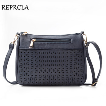 REPRCLA Brand Hollow Out Women Bags High Quality PU Leather Shoulder Bag Fashion Ladies Crossbody Messenger Bags Handbags women messenger bags crossbody leather shoulder bag high quality fashion women bags handbags metal buckle cell phone pocket