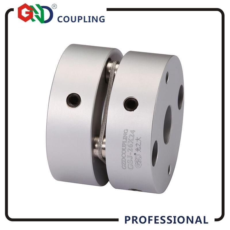 CNC coupling aluminum alloy 5mm 8mm 14mm single diaphragm coupler disc setscrew series flexible shaft coupling stepper motor d40mm setscrew hard alloy flex metal bellow coupling