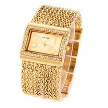 2016 nouvelle mode bracelet classique rétro horloge 18 k or planté chaîne élégant haute qualité dames des femmes bracelet robe montre