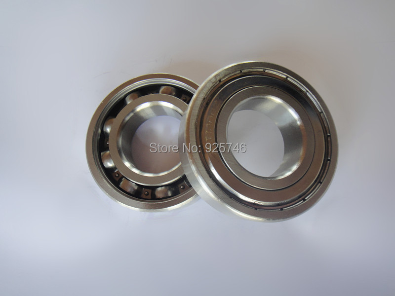 Free Shipping  2PCS S6206ZZ Stainless Steel Shielded Miniature Ball Bearings size:30*62*16mm undead and unforgiven