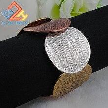 Vingage очаровательный браслет, цинковый сплав, Круглый Сплав, смешанный растягивающийся браслет