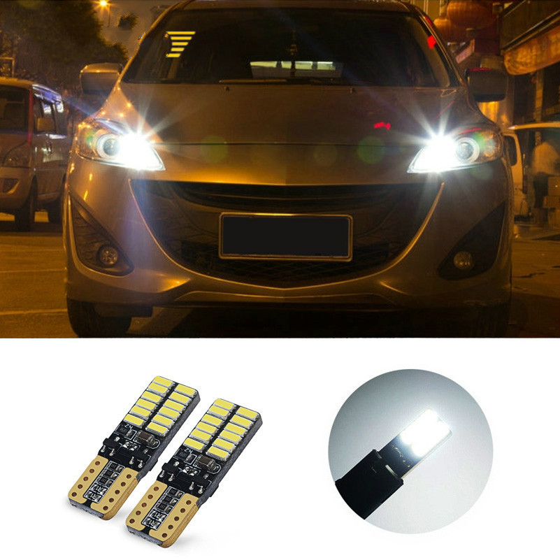 2x T10 4014 SMD <font><b>LED</b></font> Light For <font><b>Peugeot</b></font> 206 207 208 301 306 <font><b>308</b></font> 406 407 408 3008 508 607 2008 4007 Car Signal <font><b>Lamp</b></font> Accessories image