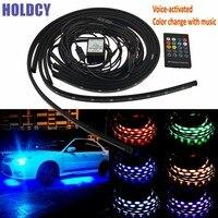 1Set Car RGB LED Interior Light LED Strip Light 16 Colors Car Styling Decorative Atmosphere Lamps