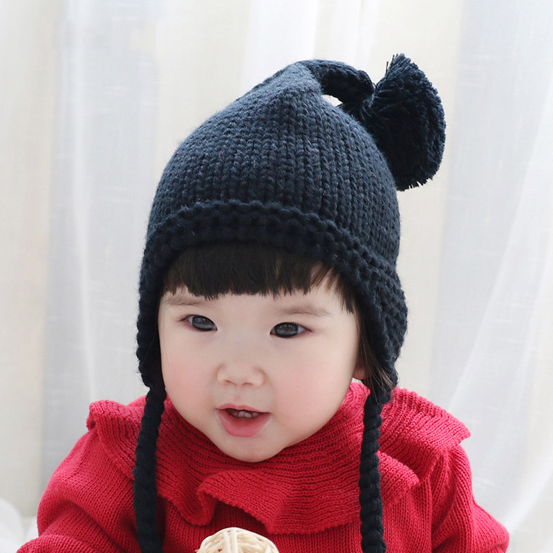 e64cb49165c Aliexpress.com   Buy Cute Newborn Baby Hats Caps with Pompom bonnet enfant  Winter Infant Baby Girl Boy Beanie Warm Knitted Hats for Kids baby muts  from ...
