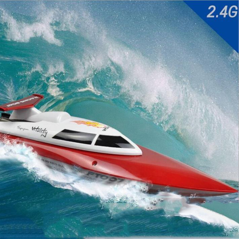 Feilun FT007 4CH 2.4G High Speed Racing Remote Control RC Boat feilun ft009 2 4g 4ch water cooling high speed racing rc remote control boat