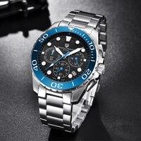 PAGANI DESIGN Luxury Classic Chronograph Watch Men Top Brand Full Stainless Steel Waterproof Quartz Watches Relogio Masculino