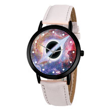 Unisex Classy Creative Watch Casual Quartz Space System Unique Solar Astronomy Planets Leather Strap Analog Watches