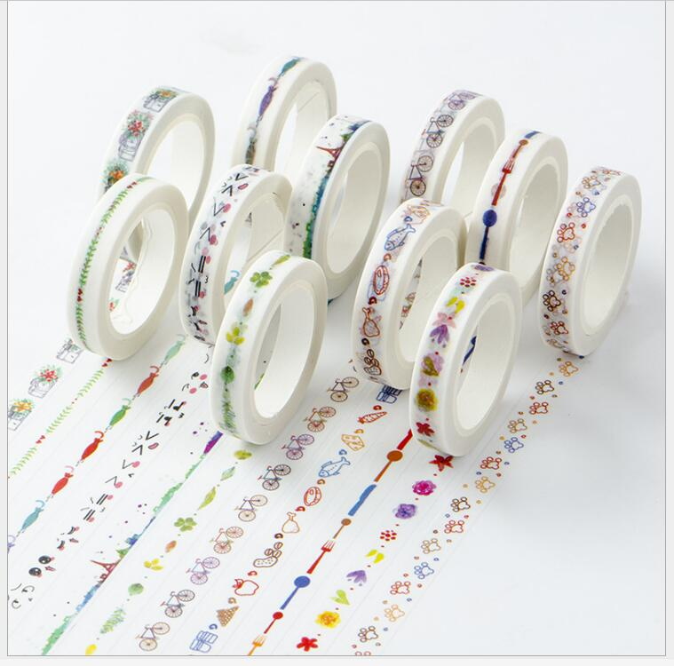 Japan Beautiful Cute Color Drawing Series Adhesive Tape
