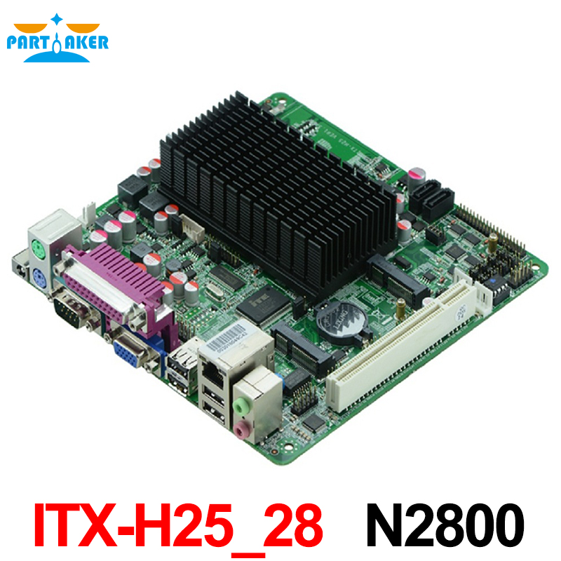 Intel ATOM N2800 Motherboard with 6 COM Motherboards ,Mini ITX-H25_28 with LVDS mainboard mini itx motherboard adv an tech aimb 212n s6a1e n450 twin 6 fan serial lvds 100% tested perfect quality
